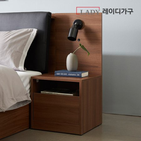 오캄 침대 USB협탁 _미드브라운