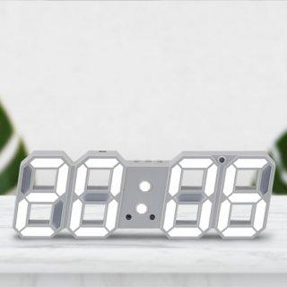 스마트 LED 시계(24CM 소형/흰색)_어댑터포함